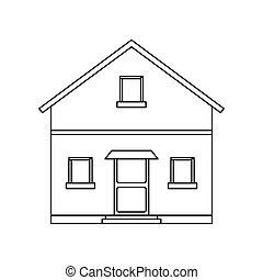 חזית, דיר, הבט, תאר, בית