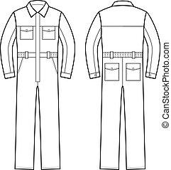 חזית, overalls., השקע