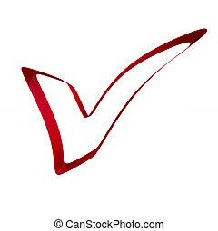 חיובי, סמל, הפרד, רקע., לבן, דמות, אדום, 3d