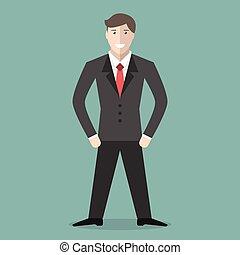 חיובי, צעיר, איש עסקים