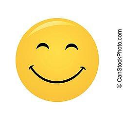 חייך, מודרני, לצחוק, צהוב, שמח