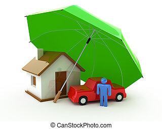 חיים, בית, ביטוח, מכונית