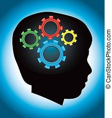 חינוך, התפתחות, autism, צללית, ילד