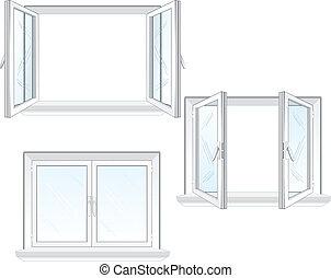 חלון, פלסטיק