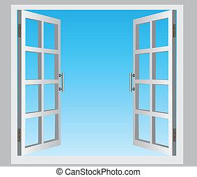חלון, פתוח