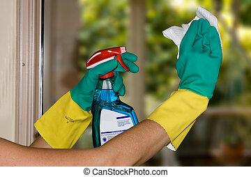 חלונות, לנקות