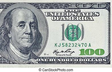 חלק, דולרים, מאות, חשבן, מישהו
