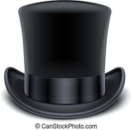 חלק עליון שחור, כובע