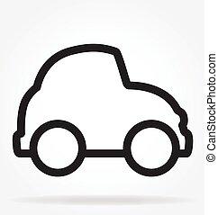 חמוד, וקטור, מכונית, ציור היתולי, תאר