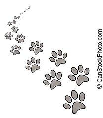 חמוד, טלף, כלב, חתול, הדפס, או