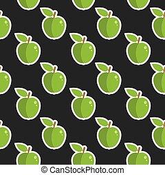 חמוד, תפוח עץ, אוכל, תבנית, seamless, פרי