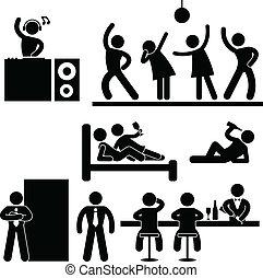 חסום, מועדון, מסבאה, דיסקוטק, לילה, מפלגה
