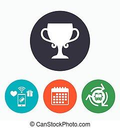 חפון, מנצח, להעניק, חתום, winners., icon.