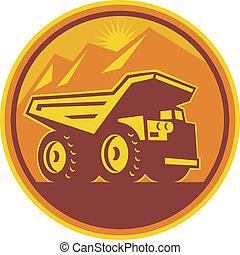 חפור משאית, ראטרו, השלך