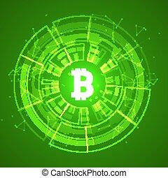 חפור, עסק, רקע., blockchain, bitcoin, crypto, מטבע, מבריק, קונצפטואלי