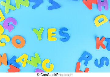 חריתה, ססגוני, letters., רקע., שים, beautifully, כן, out