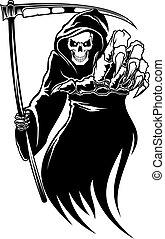 חרמש, מות, שחור, מפלצת