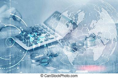 חשיפה, לוח, ממן, להחליף, שלוט, מושג, marketing., כפיל, עסק, אחסן, אסטרטגיה