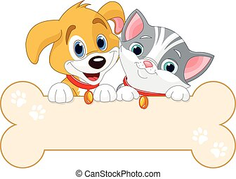 חתול, כלב, חתום