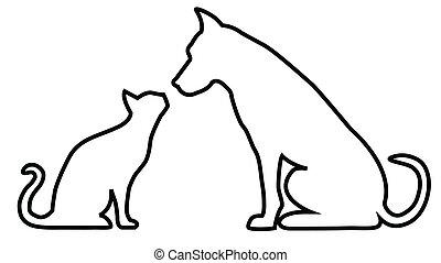 חתול, תרכובת, כלב