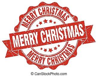 חתום., stamp., חג המולד, שמח, אטום