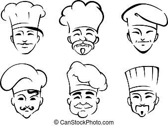 טבחים, טוקאס, ציור היתולי