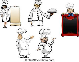 טבחים, מבשל, ציור היתולי, קבע