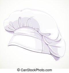 טבח, לבן, מודרני, כובע