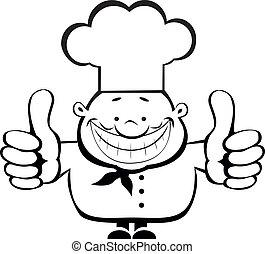 , טבח, להראות, לחייך, בהונות