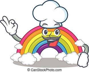 טבח, ללבוש, כובע, קשת, עצב, לבן, סיגנון, ציור היתולי