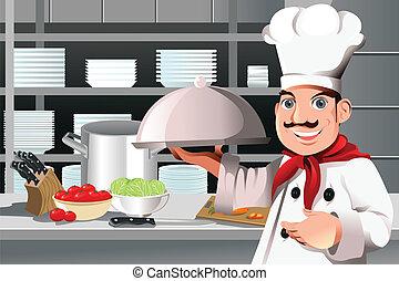 טבח, מסעדה