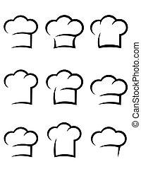 טבח, שחור, קבע, כובע