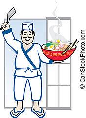 טבח, ramen