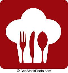 טבח, restaurant., איקון