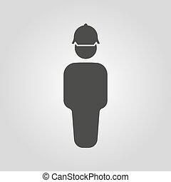 טכנאי, icon., קבלן, הנדס, תקן, סמל., עובד, דירה