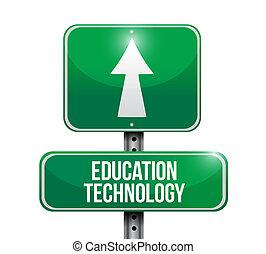 טכנולוגיה, מושג, חינוך, סימן של רחוב
