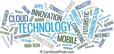 טכנולוגיה, מילה, ענן, דוגמה