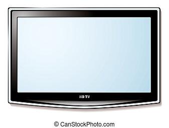 טלויזיה, אל.סי.די, מסך לבן