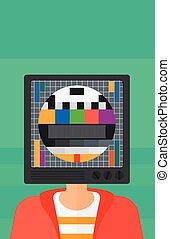 טלויזיה, head., איש