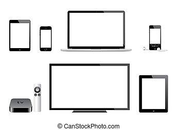 טלויזיה, iphone, מקינטוש, תפוח עץ, ipad, ipod