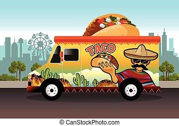 טקו, משאית, אוכל