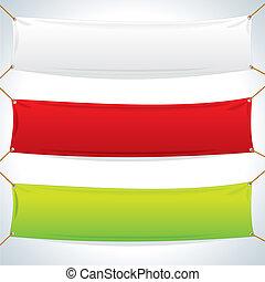 טקסטיל, banners., וקטור, דפוסית, דוגמה