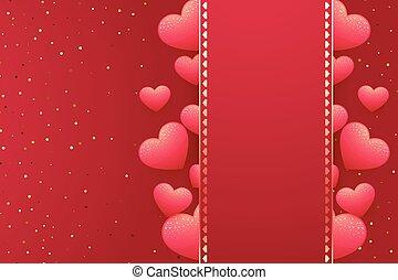טקסט, לבבות, שלך, רקע, פסק