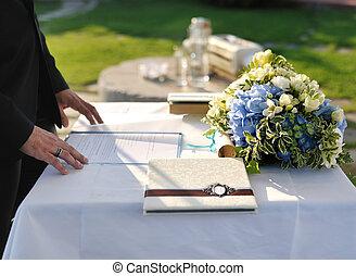טקס, פקיד קבלה, חתונה