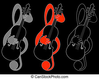טרבל כלאף, כינור