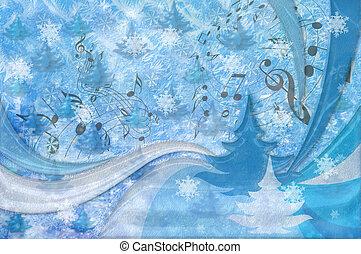 טרבל, רקע., רואה, עץ, פתיתת שלג, כלאף, חג המולד