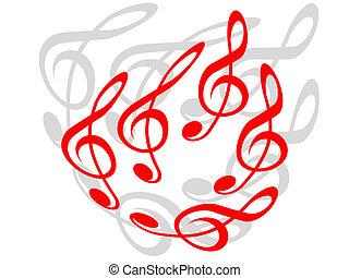 טרבל, clefs