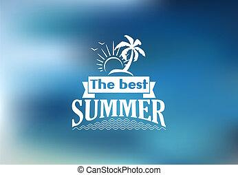 טרופי, קיץ, החף, הכי טוב, פוסטר