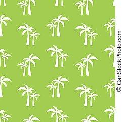טרופי, תבנית, דקל, seamless, עצים