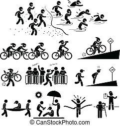 טריאטלון, מרתון, פיכטוגראם